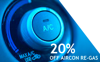 20% off Air Conditioning recharge